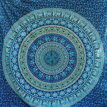 Tapestry, Hippie Mandala Tapestries Wall Hanging, Bohemian Boho Bedding Throw Bedspread, Ethnic Wall Decorative Art