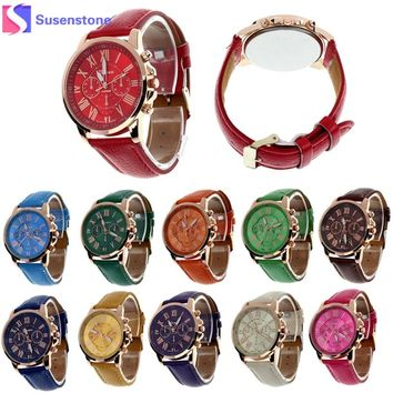 Casual Watch Women Dress Watches Faux Leather