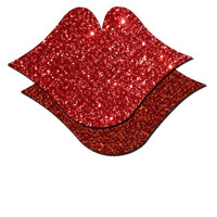 Kiss Me Hard Glitter Pasties