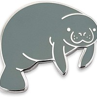 Cute Manatee Enamel Lapel Pin