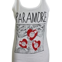 Paramore X-Ray Ladies White Vest - Offical Band Merch - Buy Online at Grindstore.com