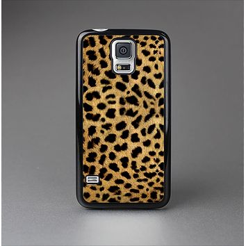 The Orange Cheetah Fur Pattern Skin-Sert Case for the Samsung Galaxy S5