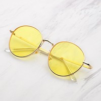 Tinted Flat Lens Sunglasses YELLOW