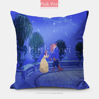 Disney Beauty and the Beast Pillow case Pillow Cover pillow sham Free shipping Handmade Custom Home & Living Wedding Gifts Wedding Idea Z013