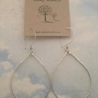 Emily Somers- Silver Teardrop Earrings