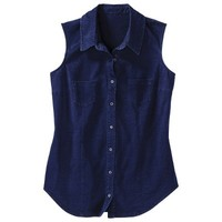 Mossimo Supply Co. Juniors Sleeveless Button Down Knit Top - Assorted Colors