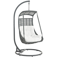 Jungle Outdoor Patio Swing Chair White