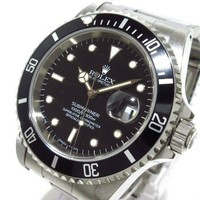 Auth ROLEX Submariner Date 16610 Black T671429 Men's Wrist Watch
