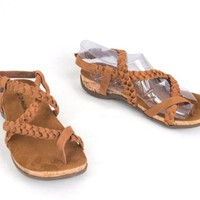 Bearpaw Cecilia Toe Loop  Strappy Sandal Brown Womens Size 8  EU 39