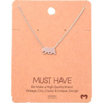 Must Have-Mama Bear NeckLace, Silve