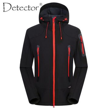 Detector Outdoor Hunting Camping Hiking Jacket Windproof Waterproof Breathable Quick Dry Softshell Jacket Men Women WClothing