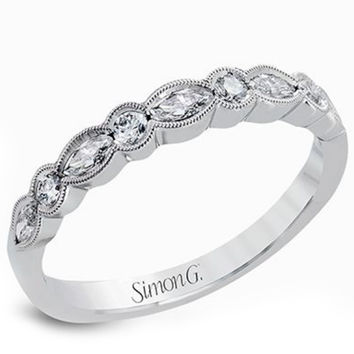 "Simon G. ""Vintage Style Bezel"" Set Diamond Wedding Ring"
