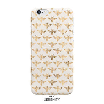 Gold Bee iPhone 6 Case, Gold iPhone 6 Case, iPhone 6 Plus Case, iPhone 5 Case, Gold Bee Samsung Galaxy Case,Gold Bee Sandy,NewSerenityStudio
