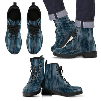 Blue Wash Men's Leather Boots