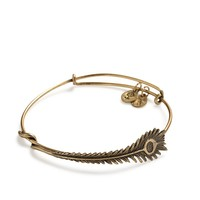 Alex and Ani Peacock Feather Wrap - Russian Gold