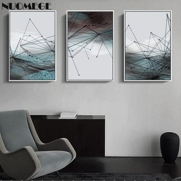 Abstract Painting Minimalist Modern Poster Geometric Canvas Vintage Wall Art Prints Decorative Pictures For Living Room  Decor