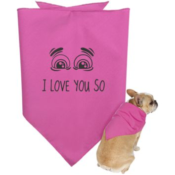 I Love You So Doggie Bandana