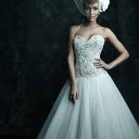 Allure Couture C244 Beaded Tulle Wedding Dress