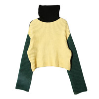 Color-Blocked Turtleneck Sweater