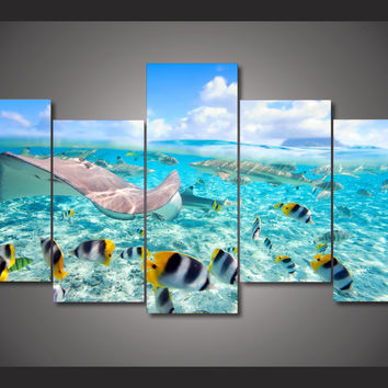 Tropical Reef 5-Piece Wall Art Canvas