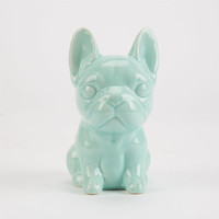 Ceramic Frenchie Bank Mint One Size For Women 23832552301