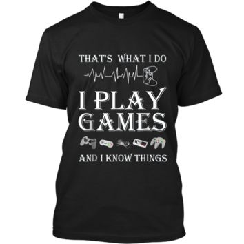 Gaming Heartbeat Game Controller Tee  with sayings Custom Ultra Cotton