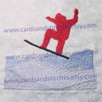 Snowboard Mountain - Machine Embroidery Design - INSTANT DOWNLOAD - 4x4 and 5x7 - (7 formats included)