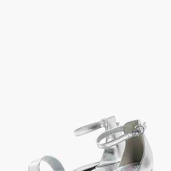 Girls Block Heel Two Part Sandal | Boohoo