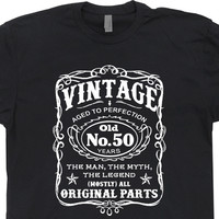 Vintage 50th Birthday T Shirt Funny 50th Birthday Shirts
