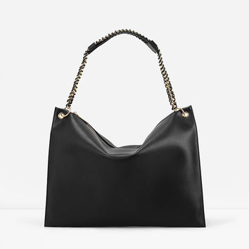 Women's Ladies Designer Leather Zara/Revolve Style Celebrity Tote Bag Smile Shoulder Handbag [6581601159]