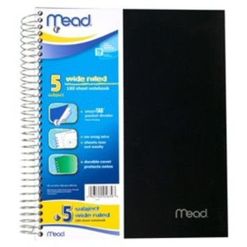 Mead 5-Subject Wide Ruled Notebook 200-ct.