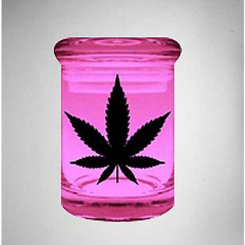 Pink Pot Leaf Storage Jar - 3 oz - Spencer's