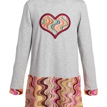 Toddler Girl's Missoni Wave Knit Long Sleeve Dress,