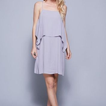 Lavender Overlay Cami Dress (final sale)
