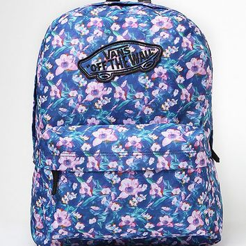 Vans Realm Floral Print School Backpack - Womens Backpack - Multi - One