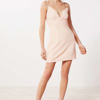 Kimchi Blue Scalloped V-Neck A-Line Mini Dress - Urban Outfitters