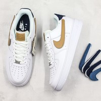 Nike Air Force 1 Low 07 Lv8 Removable Swoosh - White Vachetta Tan Sneakers - Best Online Sale