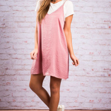 As If Slip Dress With Tee, Pink