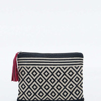 Diamond Tapestry Cosmetic Clutch Bag - Urban Outfitters
