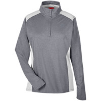 Team 365 Ladies Heather Performance Lightweight 1/4 Zip