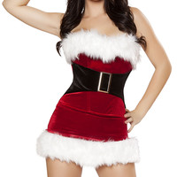 Mistletoe Cutie Costume, Mrs Claus Costume, Women Santa Costume