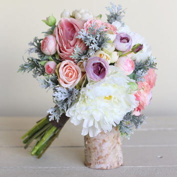 Rustic Silk Bridal Bouquet NEW 2014 Design by Morgann Hill Designs