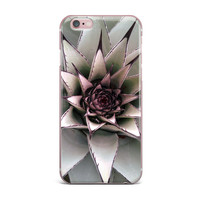 "Suzanne Carter ""Succulent"" Green Black iPhone Case"