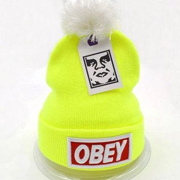 LMOFN1 Perfect Obey Women Men Embroidery Beanies Knit Wool Hat Cap