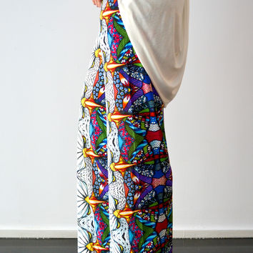 Stained Glass High Waisted Palazzo Pants
