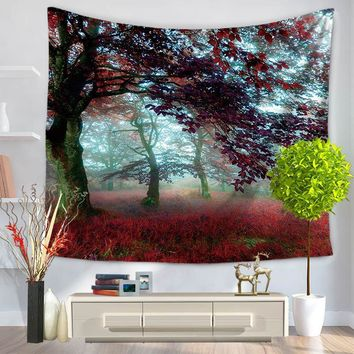 Beautiful Scenic Romantic Print India Thailand Wall Tapestry Polyester 130*150/150*200cm Carpet Decorative Blankets
