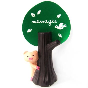 Adorable Piglet Pig Hide & Seek Animal Photo Stand Memo Holder