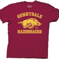 Buffy the Vampire Slayer Sunnydale Razorbacks Mens Maroon T-Shirt Tee (XX-Large)