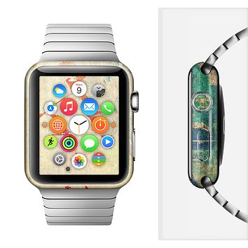 The Grunge Multicolor Textured Surface Full-Body Skin Set for the Apple Watch