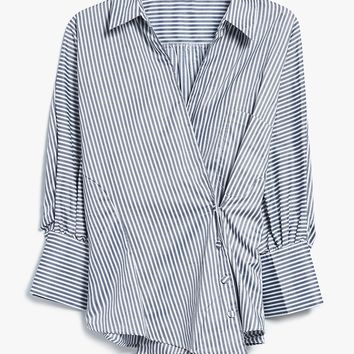 Farrow / Striped Overlap Shirt